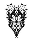 Skull from smoke — Stock Vector