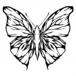 Nice airy butterfly (vector) — Stock Vector