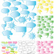 7 Sets of colorful speech bubbles — Stock Vector #6443898