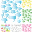 7 Sets of colorful speech bubbles - Stock Vector