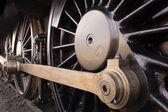 Steam locomotive wheel — Stock Photo