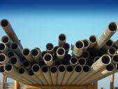 Scaffold Poles — Stock Photo