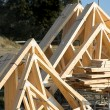 Wooden Roof Trusses — Stock Photo