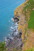 Coastline and Sea Caves — Stock Photo