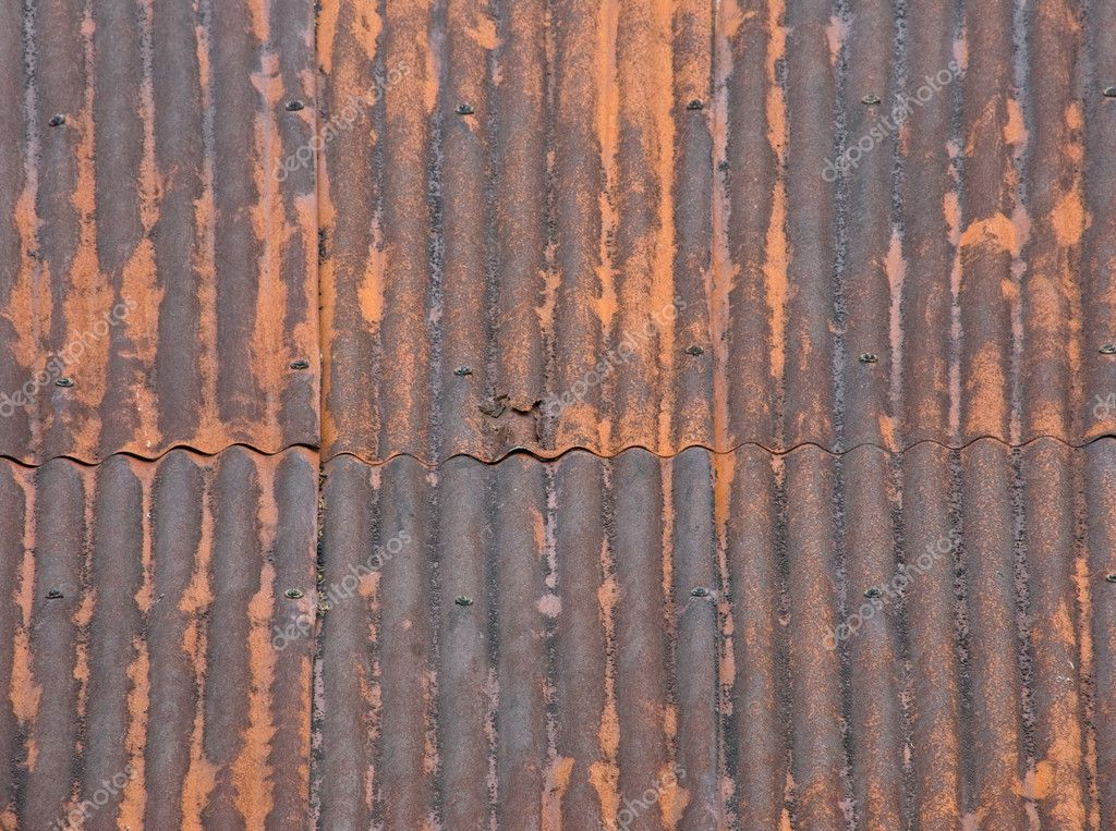 Rusted Metal Roof Texture Rusty corrugated iron roof