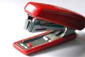 Closeup Office Stationary : Red Stapler — Stock Photo