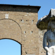Porta Romana e statua a Firenze - Stock Photo