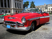 Red old cabrio car — Stock Photo