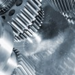Stock Photo: Titanium gear wheels
