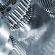 Titanium gear wheels — Stock Photo