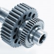 Royalty-Free Stock Photo: Aerospace gears of finest titanium