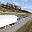 Stock Photo: Trucking panoramic