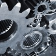 Stock Photo: Gears, cogs and wheels