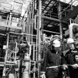 Oil workers and refinery industry — Stock Photo #6421164