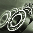 Stock Photo: Ball bearings and engineering