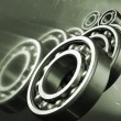 Ball bearings and engineering - Stock Photo