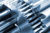 Titanium and steel parts — Stock Photo