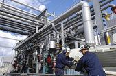 Ingegneri, gasdotti e industria — Foto Stock