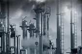 Oil, gas, fuel, smoke and fog — Stock Photo