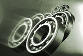 Ball bearings and engineering — Stock Photo