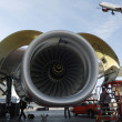 Stock Photo: Airplanes and jet engines