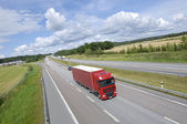 Truck transport on highway — Stock Photo