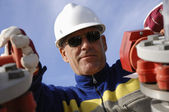 Engineer in close ups — Stock Photo