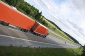 Truck transport on freeway — Stock fotografie