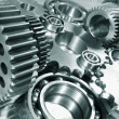 Engineering parts and gear wheels - Stock Photo