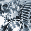 Stock Photo: Engineering parts and gear wheels