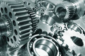 Engineering parts and gear wheels — Stock Photo