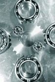 Ball-bearings and gear wheels — Stock Photo
