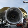 Aircraft and jet engine - Foto Stock