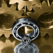 Gears and ball-bearings — Stock Photo