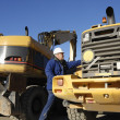 Bulldozers and caterpillars — Stock Photo