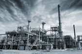 Refinery, industrial clouds and fog — Stock Photo
