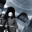 Steel workers and machinery — Stock Photo #6530250