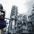 Oil industry and engineer — Stock Photo