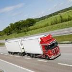 Trucking on highway — Stock Photo