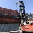 Forklift and container truck — Stock Photo