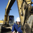 Bulldozer and operator — Stock Photo