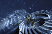 Gears, oil and titanium — Stock Photo