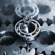 Stock Photo: Hi-tech titanium gears