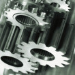 Aerospace gears of finest titanium - Stock Photo