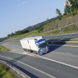 Trucking on scenic freeway — Stock Photo #6657386