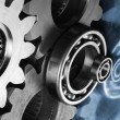 Stock Photo: Gears and technology