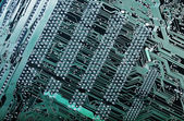 Computer-board and digital highways — Stock Photo