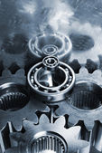 Hi-tech titanium gears — Stock Photo