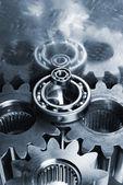 Hi-tech titanium gears — Stock Photo