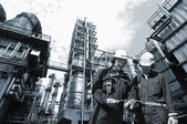 Oil industry and workers — Stock Photo